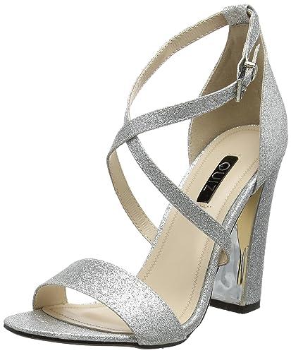 c7636b00fd0 Quiz Women s Strappy Glitter Ankle Strap Sandals