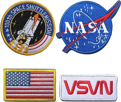 Super Save Pack Set parches apliques, I Want a Believe, quiero dejar UFO, astronauta, Trust no One, espacio fuera Military Tactical moral insignia emblema bordado hierro en o coser en decorativo patch-6pcs: