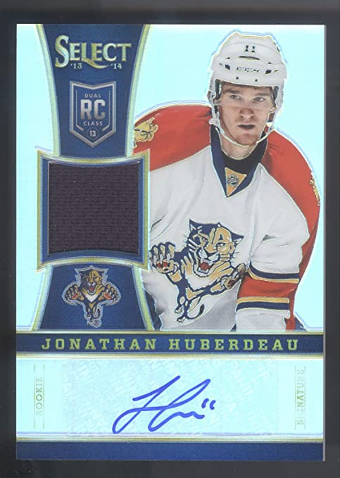 f0d4ccf88 Image Unavailable. Image not available for. Color  13 14 Select Prizms  299  Jonathan Huberdeau Rookie Jersey Autograph ...