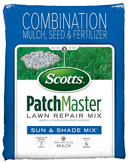 amazon com scotts patchmaster lawn repair mix sun and shade mix