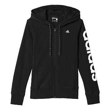 adidas AJ4579 Sweat-shirt à capuche Femme Noir/Blanc FR : XL (Taille