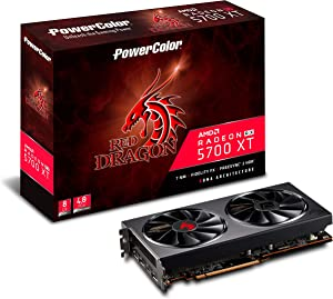 PowerColor Red Dragon Radeon Rx 5700 Xt 8GB GDDR6 Graphics Card (AXRX 5700XT 8GBD6-3DHR/OC)