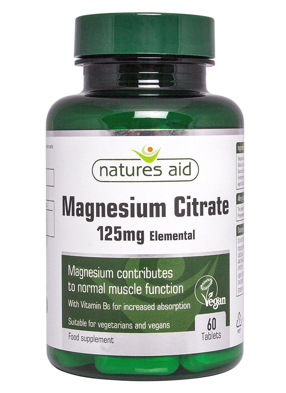 Natures Aid citrato de magnesio 125 mg de vitamina B6 60 por paquete: Amazon.es: Salud y cuidado personal