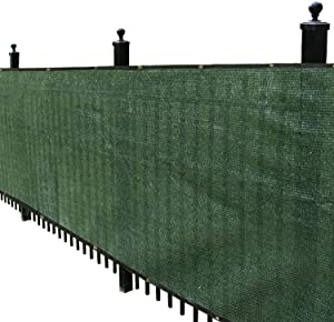 Kanagawa 4'x 50' Fence Privacy Screen Heavy Duty Garden Fence Mesh Shade Net Cover 4ft for Outdoor Wall Porch Patio Backyard Balcony Dark Green