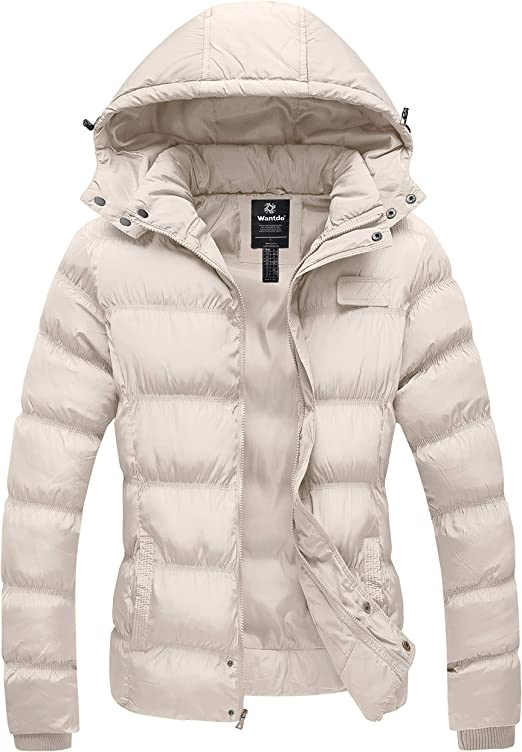 WBGZD Denim Coats Womens Hooded Tops Slim Warm Winter Jackets Coat with Fur Hood