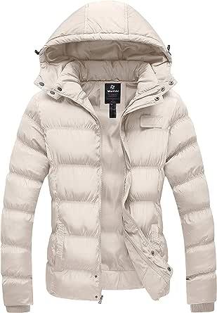 widome Women Casual Turn-Down Collar Long Sleeve Solid Button Closure Warm Coat Down