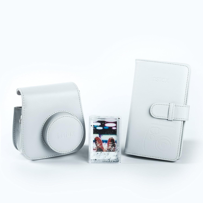 Kit de Accesorios para Instax Mini 9 Fujifilm 70100138068 Funda Desmontable con Cierre magn/ético, /álbum 108 Fotos, Marco de metacrilato Color Azul Cobalto