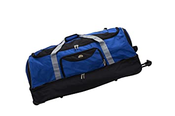 6b9dc9e98f Image Unavailable. Image not available for. Color  Rockland 40 quot  Drop  Bottom Rolling Duffle Bag ...