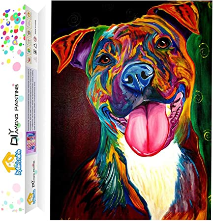Full 5D Drill Diamond Painting Rhinestone Dog Embroidery Art Home Decor