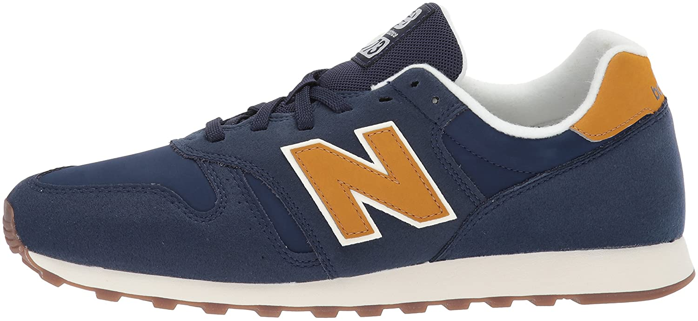 New Balance Men's 373V1 Sneaker B01NAHJKGP 8 2E US|Blue/Yellow