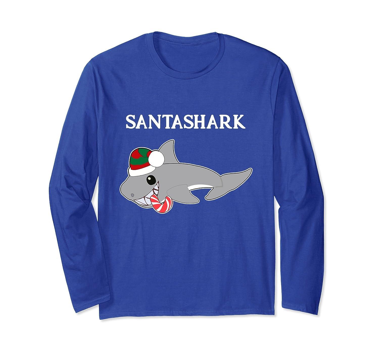 1f994f07f65ea Funny Christmas Santa Shark Lovers Tee Shirt-AZP - anzpets