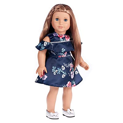 DreamWorld Collections - Romantic Moment - Dark Blue Dress - Clothes Fits 18 Inch American Girl Doll (Doll Not Included): Toys & Games [5Bkhe2002991]