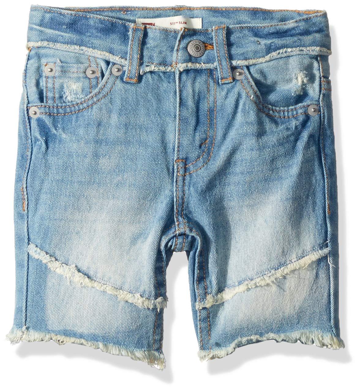Levi's Boys' Big 511 Slim Fit Denim Shorts, Keanu, 14