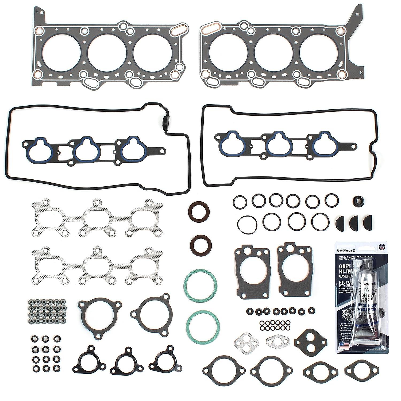 CNS CH7630 Graphite Cylinder Head Gasket Set for Chevrolet Tracker, Suzuki Vitara & Grand Vitara 2.5L 2500cc V6 DOHC H25A Engine 1999-05