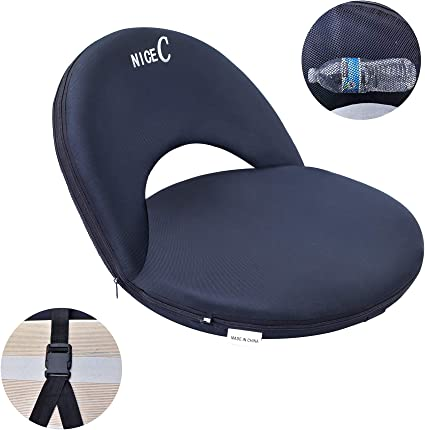 Shoulder Carry Strap /& Thick Back w//Extra Padding for Superior Support /& Comfort Deluxe 6-Position Reclining Waterproof Cushion Chair for Bleachers w//Storage Pocket Alpcour Folding Stadium Seat
