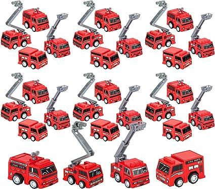 Amazon.com: 4Es Novelty - Juego de 24 bomberos de juguete ...
