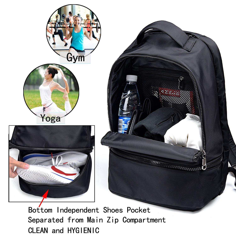 UTO Fashion Nylon Backpack Functional School Gym Sport Hiking Bag 3M Reflective Straps by UTO (Image #3)