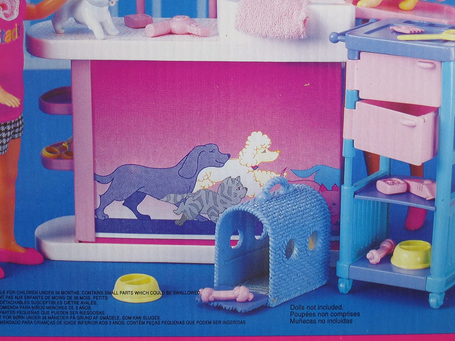 Amazon.com: Barbie So Much To Do! Pretty Pet Parlor Playset (1994 Tri-Lingual Box): Toys & Games