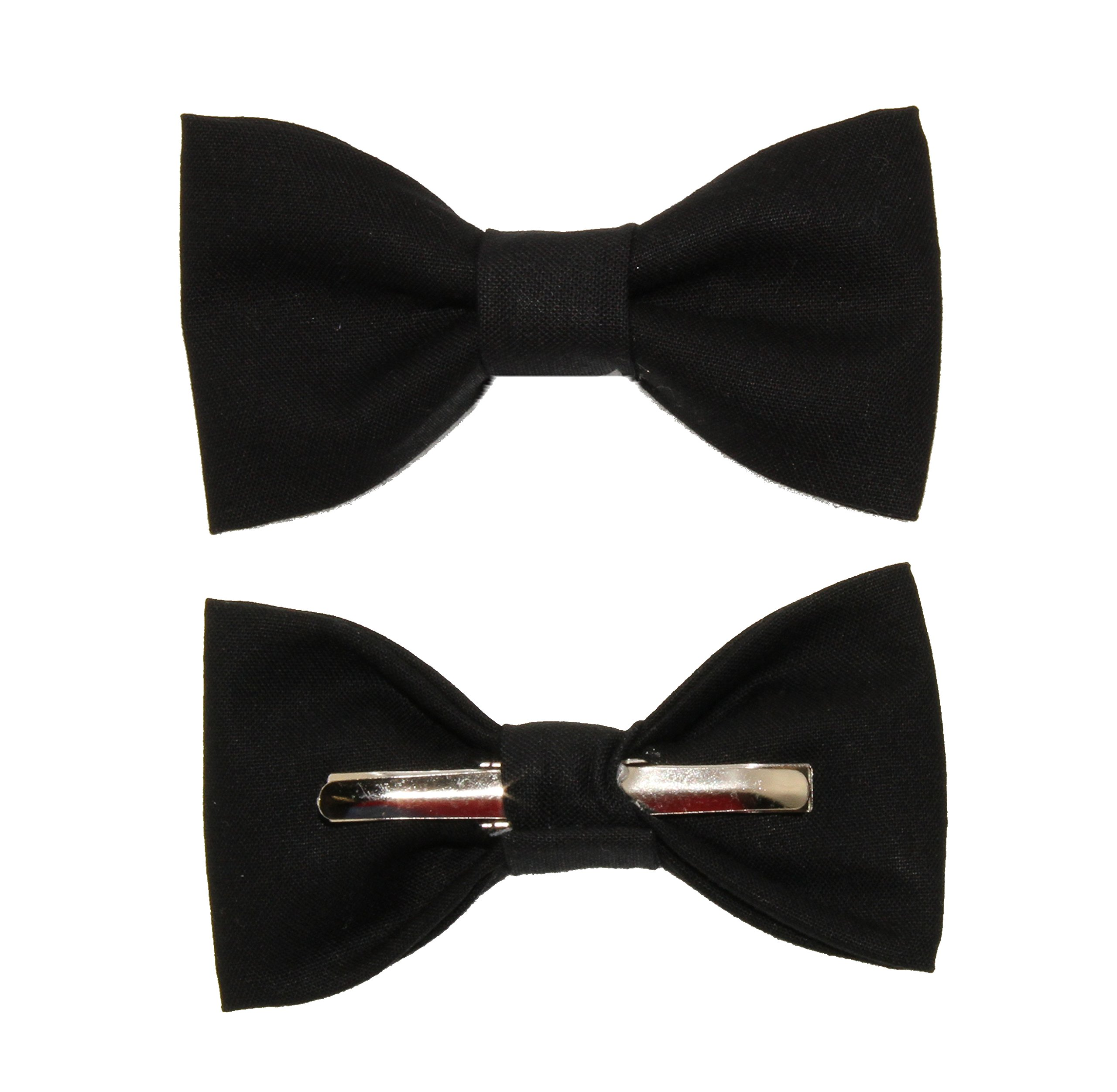 Toddler Boy 4T 5T Solid Black Clip On Cotton Bow Tie Bowtie by amy2004marie