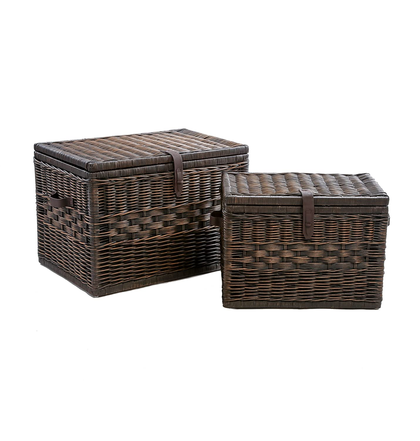 Amazon The Basket Lady Deep Wicker Storage Trunk