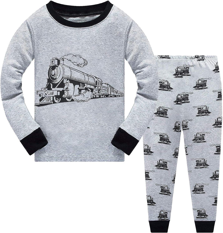 Little Hand Toddler Boys Pajamas Dinosaur 100/% Cotton Train Sleepwear Pjs Sets Long Sleeve Excavator Jammies