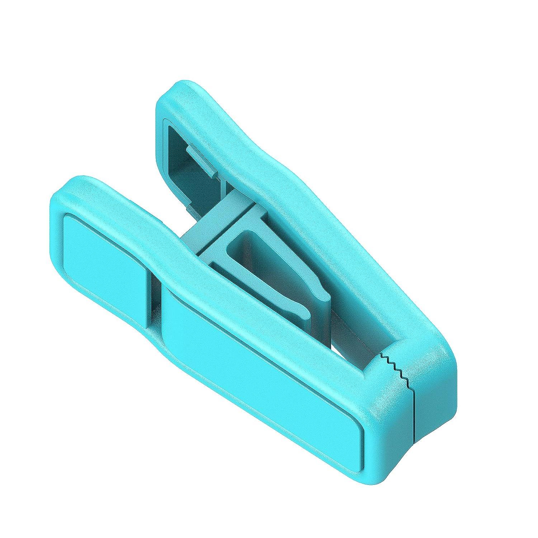MEQI プラスチック製フィンガークリップ スリムライン 衣類ハンガー 60個セット ハンガークリップ 20 グリーン B07JVL59XZ アクア 20