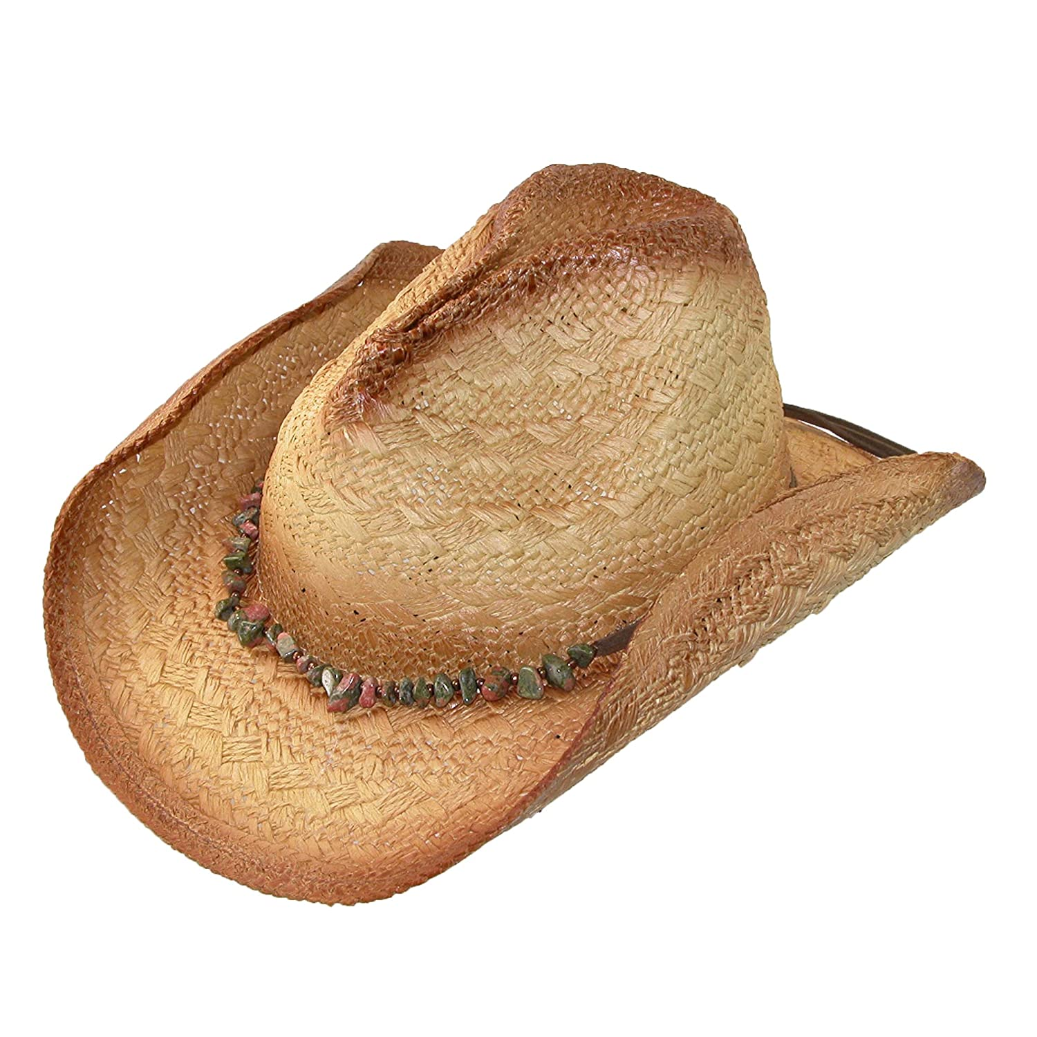 7ed825f3ae40b0 Scala Whiskey Brown Toyo Straw Cowgirl Hat w/ Green Trim at Amazon Men's  Clothing store: Cowboy Hats
