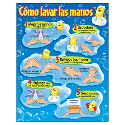 TREND enterprises, Inc. Cómo lavar las manos (SP) Learning Chart, 17""