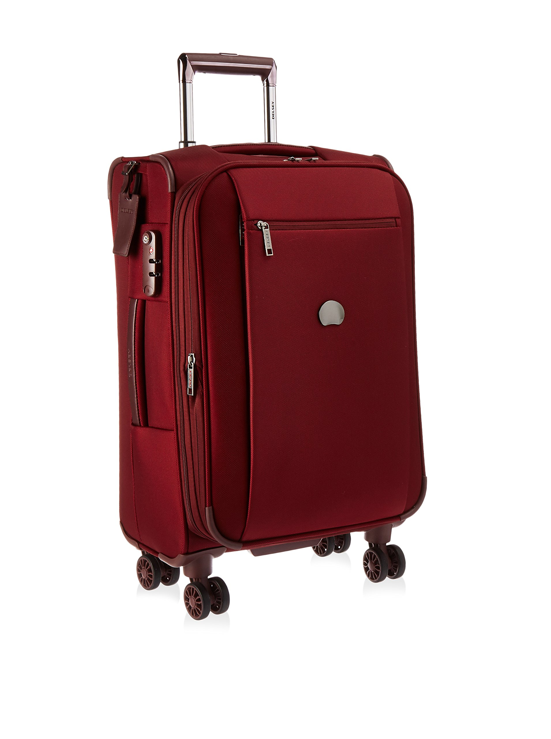 Delsey Luggage Montmartre 21 Inch Expandable Spinner Carry On Suitcase, Bordeaux by DELSEY Paris