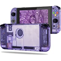 BASSTOP Set de carcasa de repuesto para consola Switch NS NX y control Switch Joy-con derecho/izquierdo sin electrónicos, hazlo tú mismo, Set D-Pad-Atomic Purple