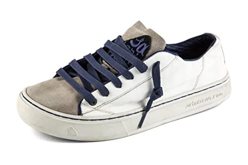 Satorisan Zapatillas de Piel Lisa para hombre Blanco Weiß, color Blanco, talla 41: Amazon.es: Zapatos y complementos