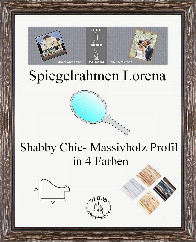 Lorena Echtholz Shabby Chic Spiegelrahmen 40 x 50 cm Profil und ...