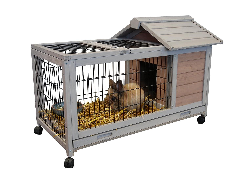 Jaula para conejo de interior o de exterior con ruedas dunland: Amazon.es: Productos para mascotas