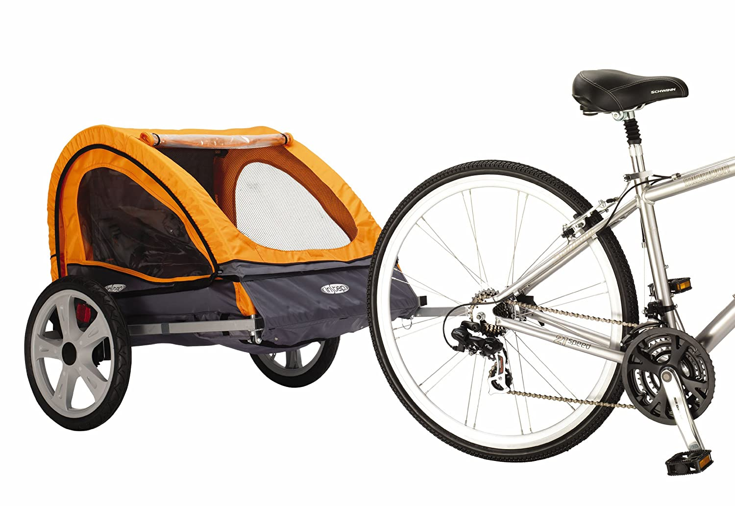 Pacific Cycle Instep Quick N EZ - Remolque Doble para Bicicleta, 12-QE212, Orange/Gray: Amazon.es: Deportes y aire libre