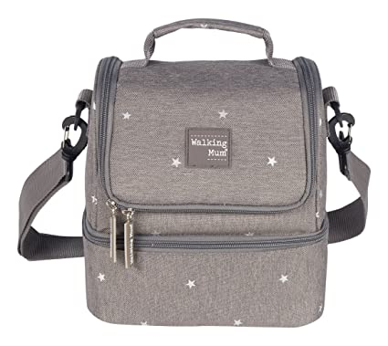 Walking Mum Gaby - Bolsa para comiditas, color gris