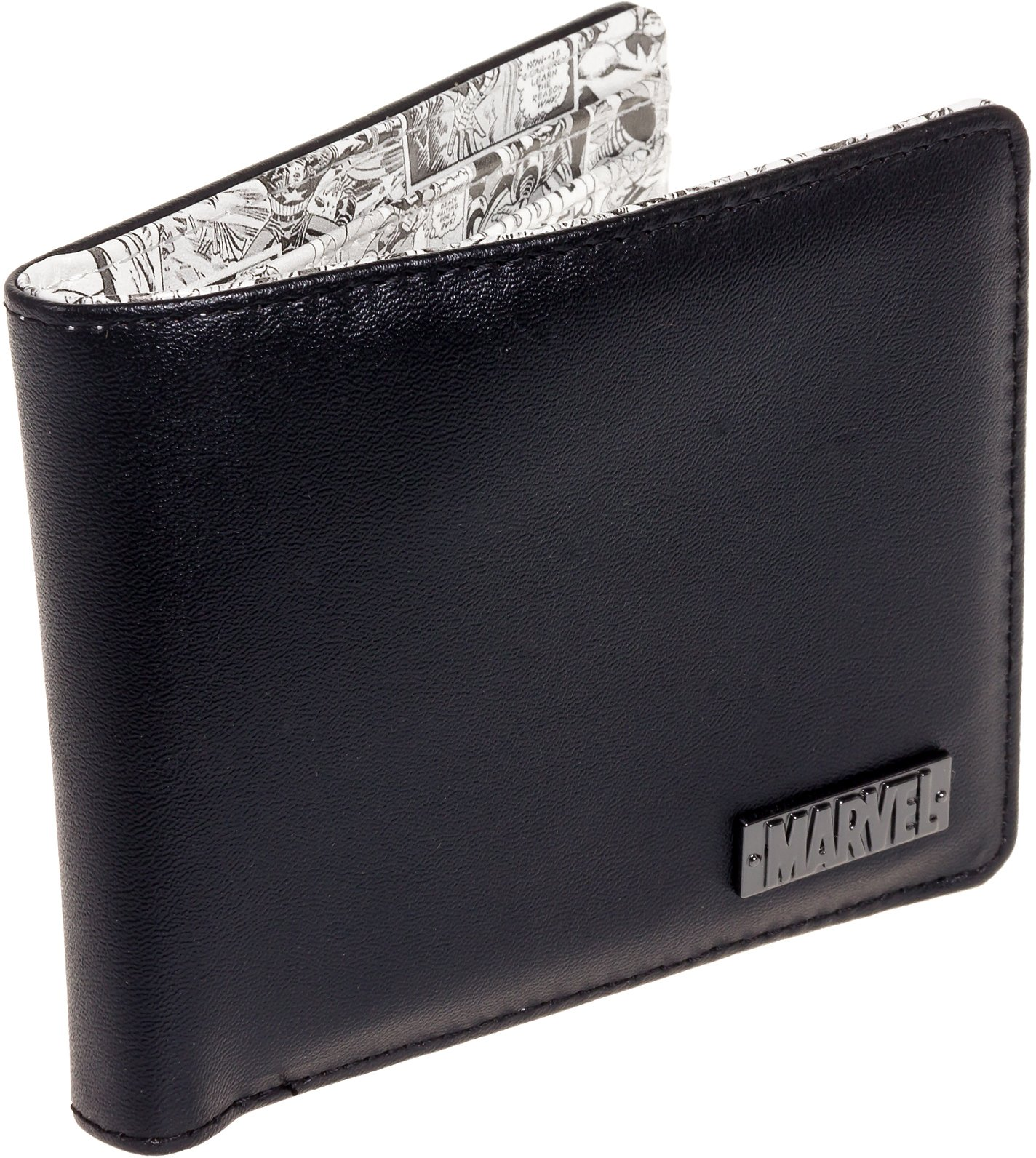 Marvel Comics Men's Retro Comic Print Bifold Wallet (Black/White)