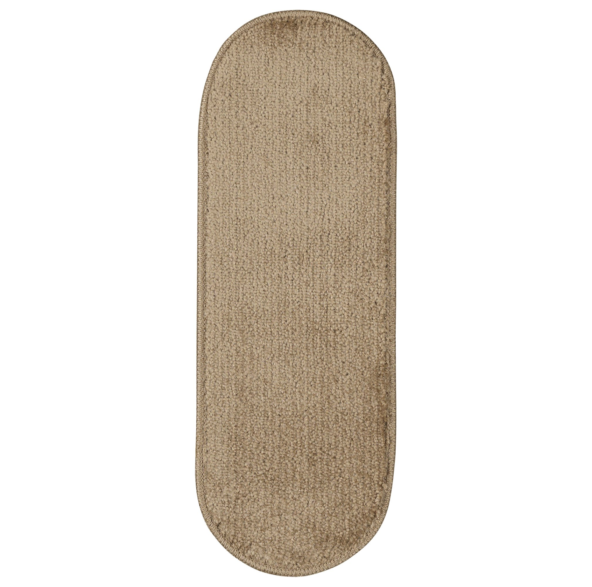 Ottomanson Softy Collection Stair Tread, 9'' X 26'' Oval, Beige, 14 Pack by Ottomanson (Image #6)