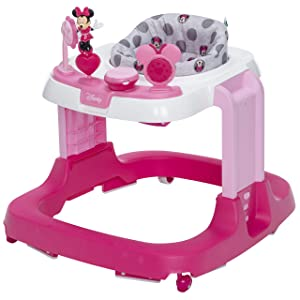 Disney Baby Ready, Set, Walk! DX Developmental Walker, Minnie Grey Dots