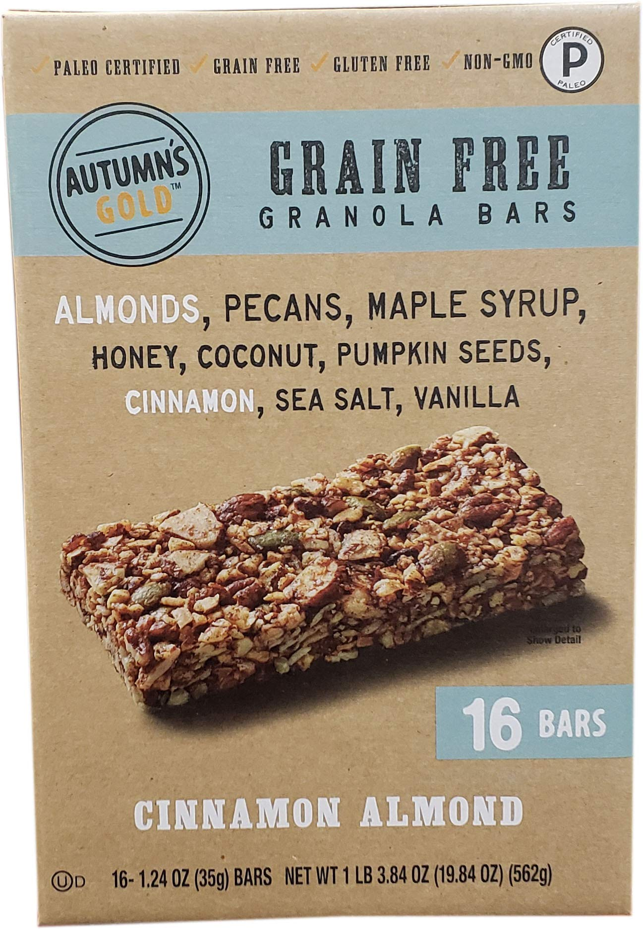 Autumns's Gold Grain Free Cinnamon Almond (16Count/1.24 oz), 19.84 oz by Autumns's Gold (Image #1)