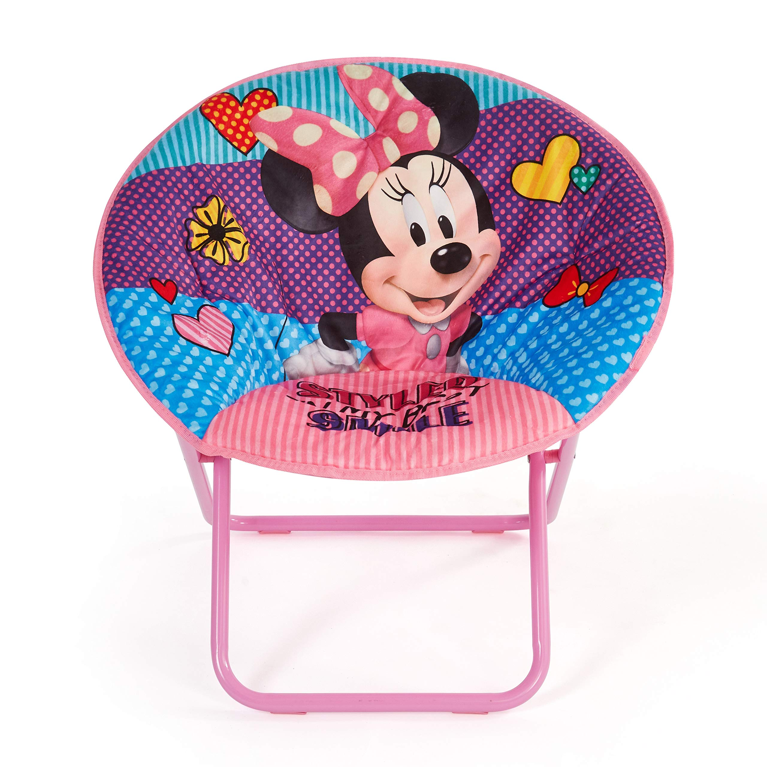 Disney Minnie Mouse 23'' Saucer Chair, Pink by Disney