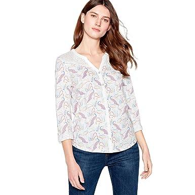 ab3853e89bf7c6 Mantaray Womens White Peacock Jersey Shirt: Mantaray: Amazon.co.uk ...