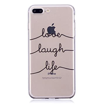 Funda iPhone 7 Plus, Carcasa iPhone 8 Plus Transparente Silicona ...