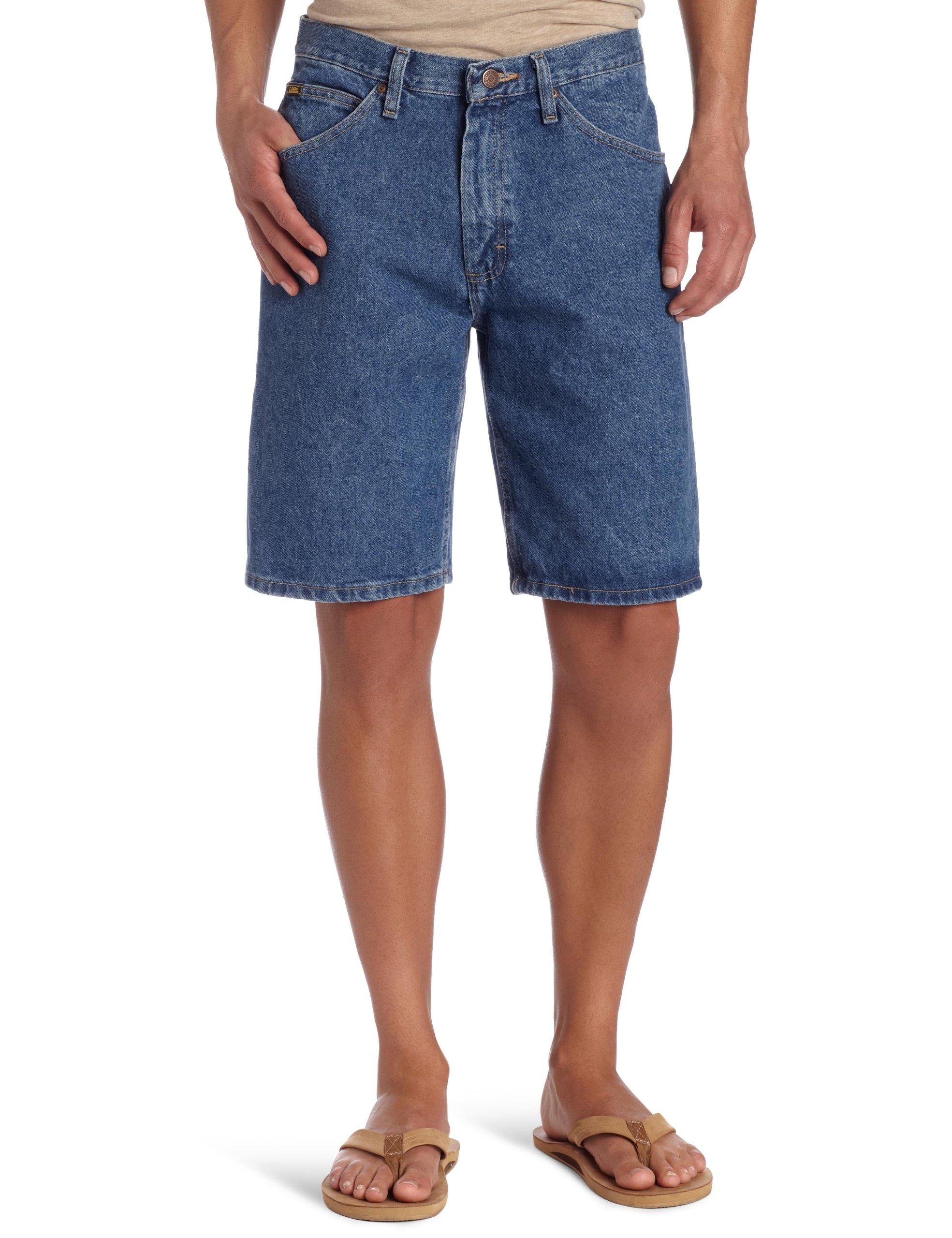 Lee Men's Regular Fit Denim Short, Pepper Stone, 36