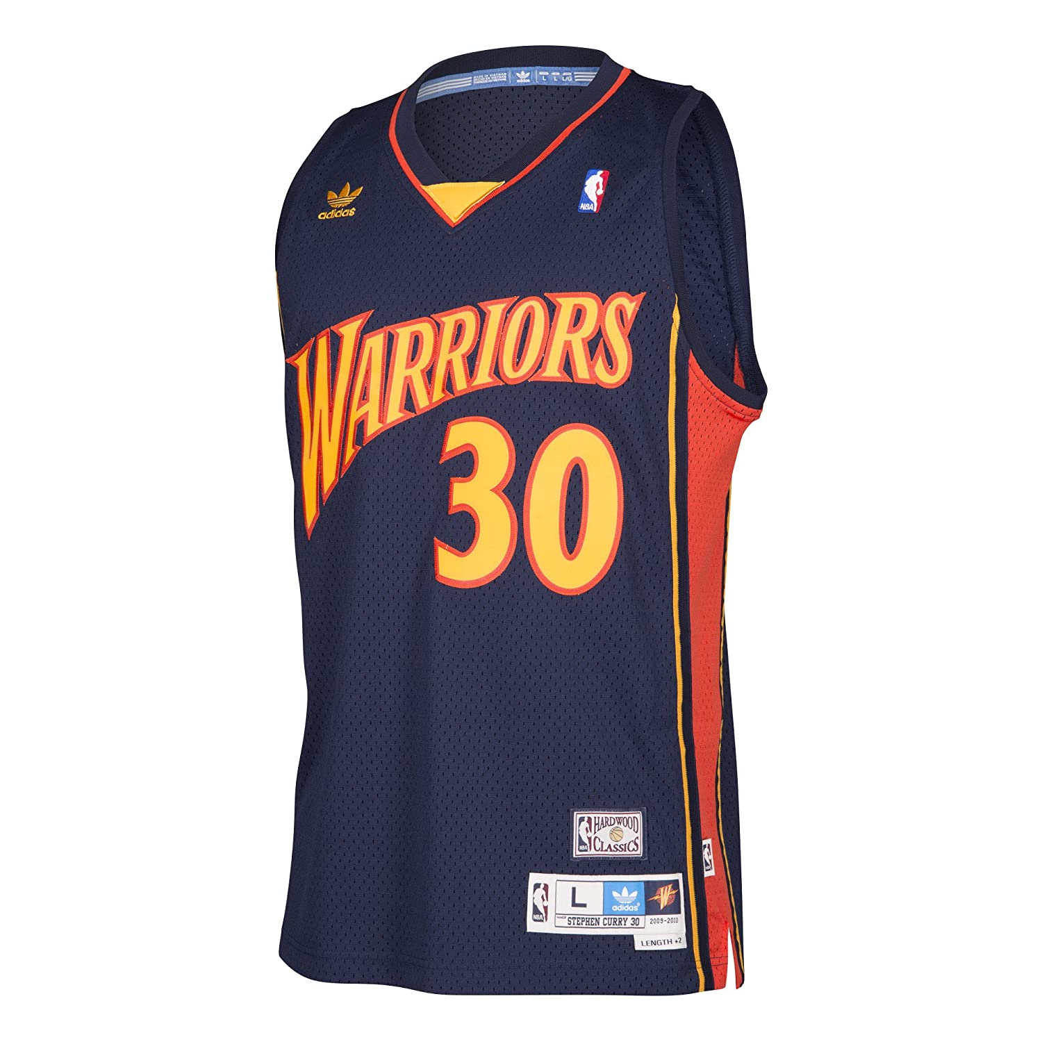 a6fe1bc2016a Amazon.com   Stephen Curry  30 Golden State Warriors Adidas NBA Navy  Throwback Adult Jersey (Medium)   Sports   Outdoors