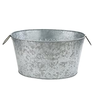 Mind Reader ITUB-SIL Bucket, Silver Ice Tub