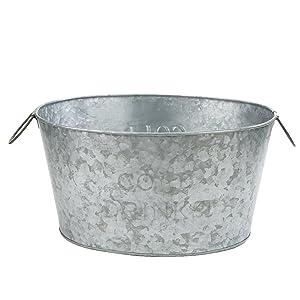 Mind Reader ITUB-SIL Bucket, Silver Ice Tub