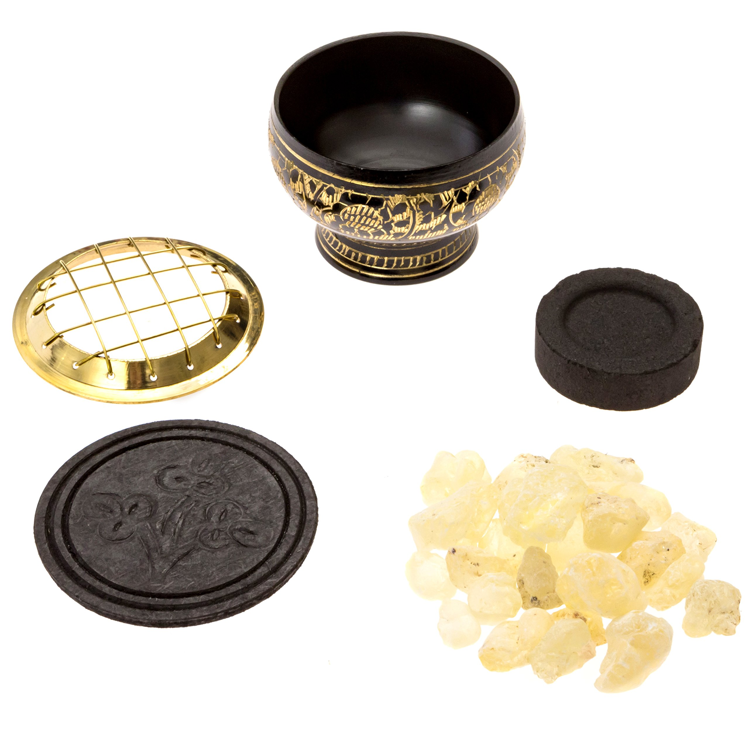 Alternative Imagination Premium Copal Burning Kit (with Tibetan Incense Burner or Brass Screen Burner) (Black Brass) by Alternative Imagination (Image #3)