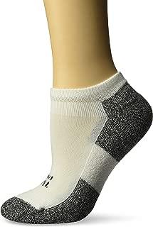 product image for Thorlos Women's 1 Pair Lite Running Thin Cushion Micro Mini Crew Socks 7.5-9.5 White