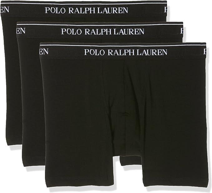 Polo Ralph Lauren Boxer Brief, Calzoncillos para Hombre, Negro ...