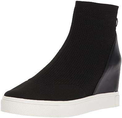 fa002473721 Steve Madden Women s Lizzy Sneaker Black 5.5 ...